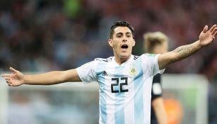 El jugador argentino durante un partido
