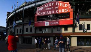 Afición de los Cubs en el Wrigley Field