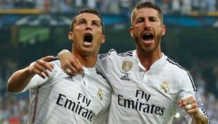 Sergio Ramos y Cristiano Ronaldo en un partido del Real Madrid