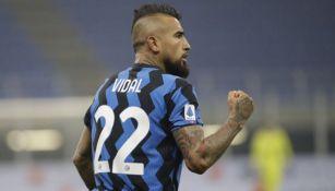 Vidal durante un partido del Inter de Milán
