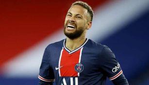 Neymar en un partido con el París Saint-Germain