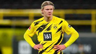 Erling Haaland en acción con Borussia Dortmund