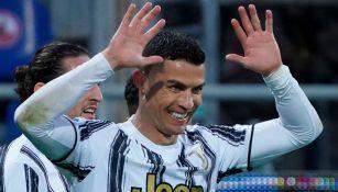 Cristiano Ronaldo tras anotar un gol a favor de la Juventus