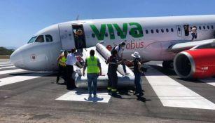 Avión colapsó antes de despegar