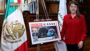 Lotería Nacional con billete conmemorativo