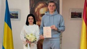 Lunin y su esposa