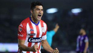 Nico Ibáñez en celebración de gol