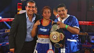 Anabel Ortiz tras un combate de boxeo