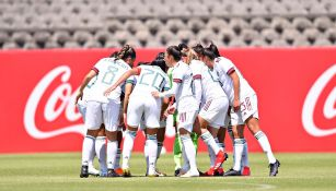 Jugadores del Tri Femenil previo a un partido