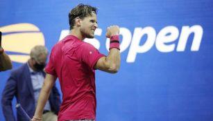 Dominic Thiem festeja jugada en el US Open