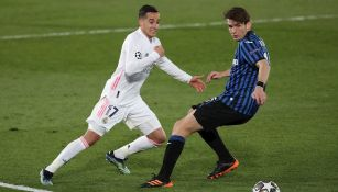 Lucas Vázquez durante un partido con el Real Madrid