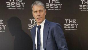 Van Basten, en una entrega de premios The Best