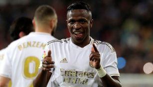 Vinícius en un partido con el Real Madrid