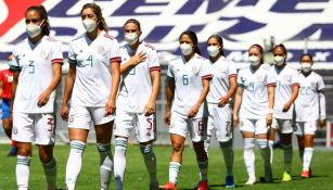 México Femenil antes de un partido