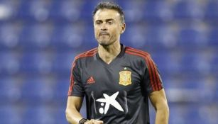 Luis Enrique en un entrenamiento de la Selección Española