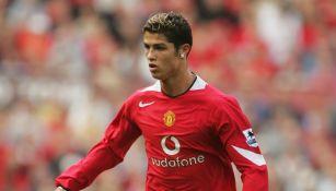 Cristiano Ronaldo en su paso por el Manchester United