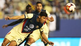Jordan Silva durante un partido con América