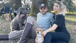 Mauro Icardi y Wanda con sus mascotas
