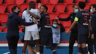 Video: Neymar y Tiago Djalo se encararon tras ser expulsados en PSG vs Lille