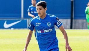 Gerardo Arteaga en partido con Genk