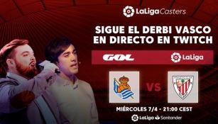 Ibai transmitió el duelo entre Athletic y Real Sociedad