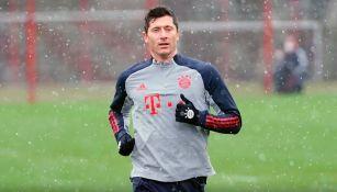 Bayern Munich: Robert Lewandowski regresó a entrenar tras lesión en rodilla