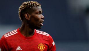 Paul Pogba en un partido del Manchester United