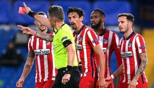 Savic reclama su expulsión ante Chelsea
