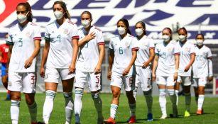 Selección Mexicana Femenil previo a un encuentro internacional