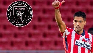 Luis Suárez en partido con Atlético de Madrid