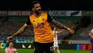 Willian José tras anotar gol a favor del Wolverhampton
