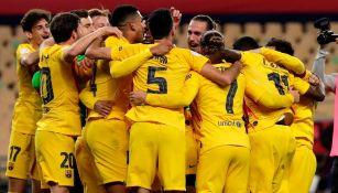 Barcelona en festejo de gol
