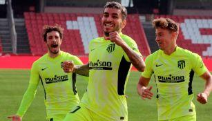 Jugadores del Atlético de Madrid en festejo
