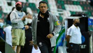 Nacho Ambriz durante un juego de León