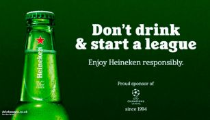Heineken, patrocinador de la Champions League, se burló de la Superliga