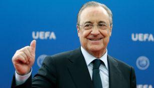 Florentino Pérez en un evento organizado por la UEFA