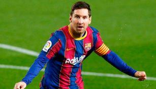 Lionel Messi en festejo con Barcelona