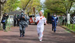 Un policía se contagió de Covid-19 en revelo de antorcha olímpica