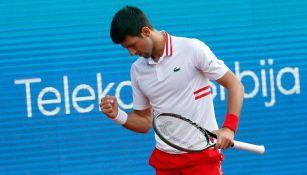 Novak Djokovic en el Abierto de Serbia en Belgrado