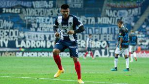 Jesús Gallardo durante un partido con Rayados