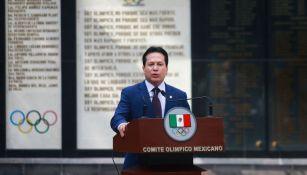 Daniel Aceves en conferencia de prensa