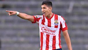 El 'Chelo' Zaldívar, en festejo de gol