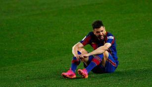 Jordi Alba en lamento ante Granada
