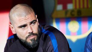 Valdés, en su etapa como entrenador de las inferiores del Barcelona