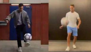 Chicharito Hernández y Messi en reto