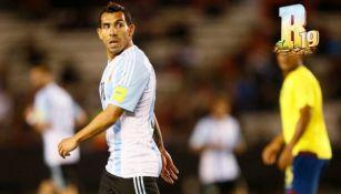 Carlos Tévez con la selección argentina