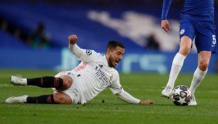 Eden Hazard en acción contra el Chelsea