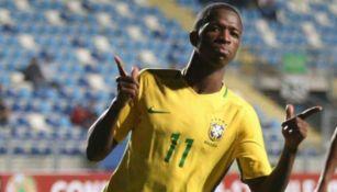 Vinícius Junior en festejo con Brasil