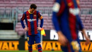 Messi durante el partido entre el Barcelona y el Celta de Vigo