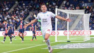 FlorianThauvin durante un partido con el Marsella